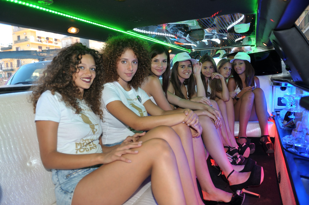 2. In limousine