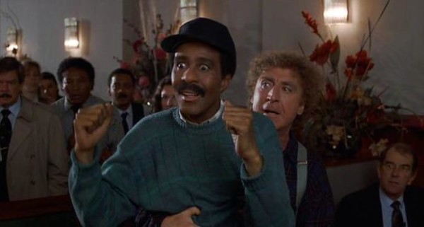 "Gene Wilder (D) con Richard Pryor in un fermo immagine del film ""Non guardarmi: non ti sento"". ANSA/WIKIPEDIA +++EDITORIAL USE ONLY - NO SALES+++"