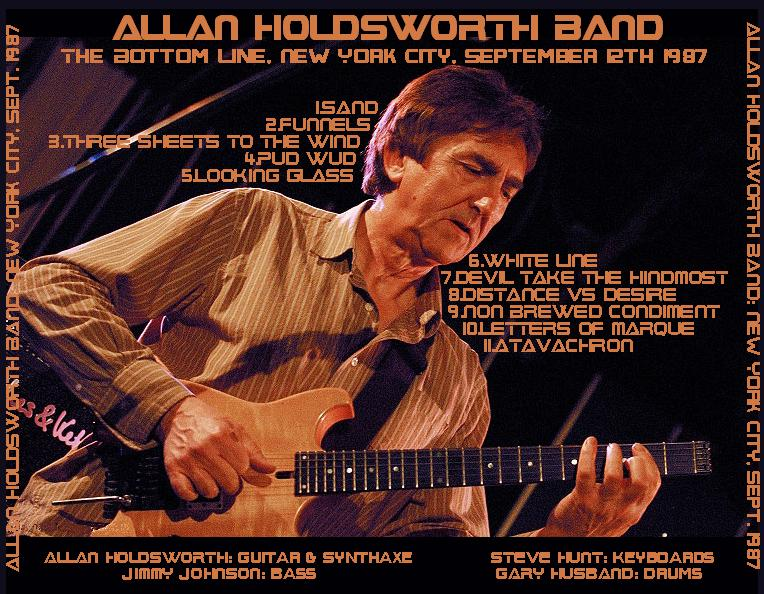 Allan Holdsworth - 1987-09-12 - The Bottom Line, NYC back