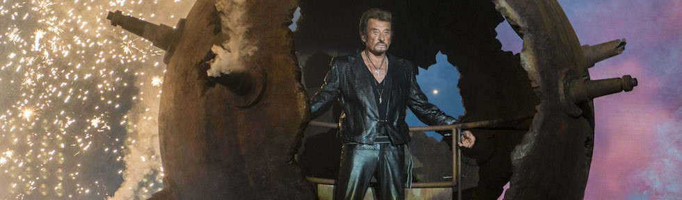 Johnny Hallyday in concerto a Montreal, in Canada, 4 ottobre 2012 (ROGERIO BARBOSA/AFP/Getty Images)