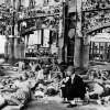 Japanese troops resting in the Hiroshima railway station after the atomic bomb explosion. (U.S. National Archives)