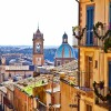 EXWG8W Townscape with Cathedral San Giuliano, Caltagirone, Sicily, Italy
