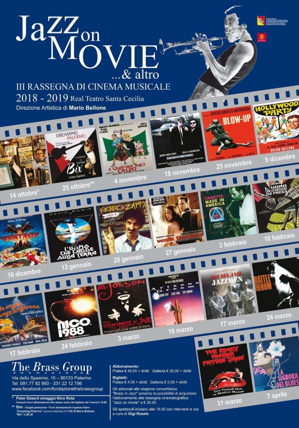 locandina jazz on movie & altro 2018-2019