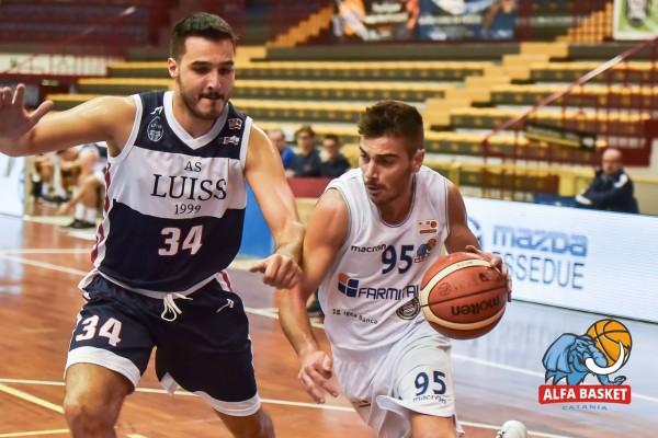 ALFA BASKET CATANIA SUPERATA DALLA LUISS ROMA 77-101