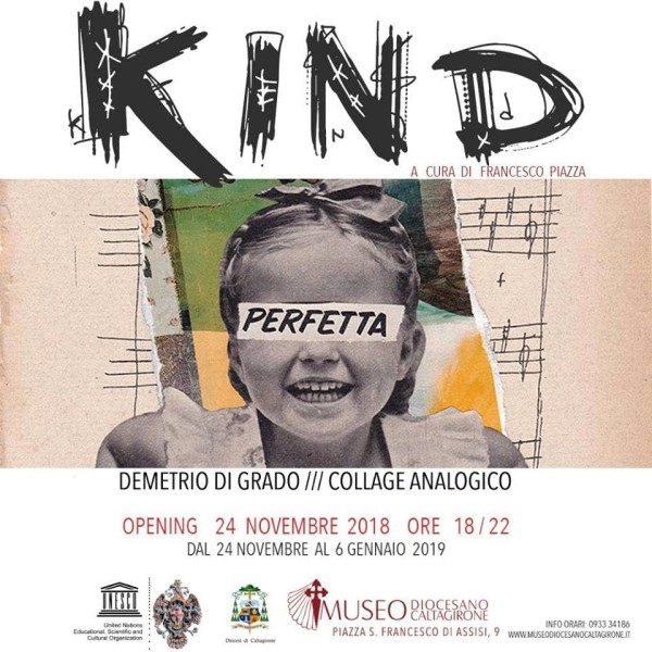 """Caltagirone: Museo Diocesano, mostra: """"Kind. Collage Analogico"""""""