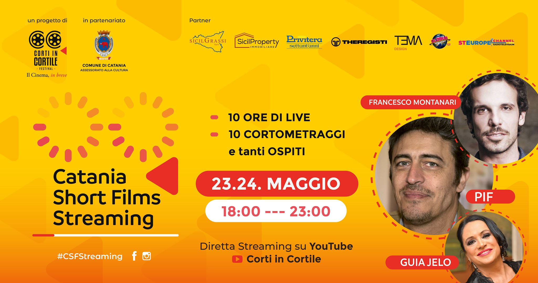 Corti in Cortile presenta Catania Short Films Streaming I Edizione