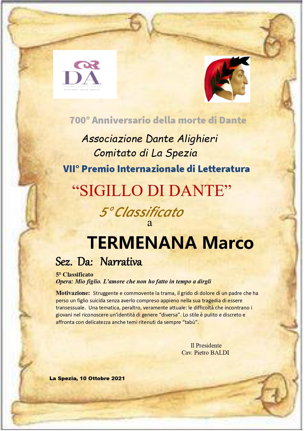 """""""Mio figlio. L'amore che non ho fatto in tempo a dirgli"""" di Marco Termenana vince il Primo Premio """"Pagine di Territorio. Storie di Uomini e Paesi"""""""